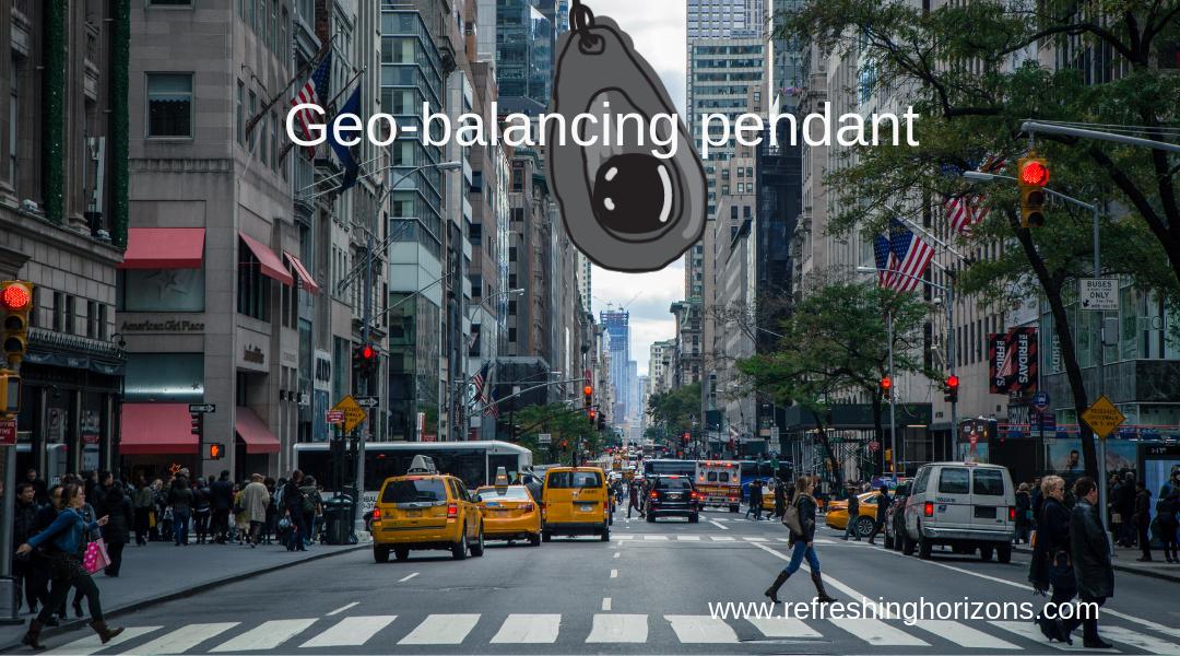 geo balancing pendant